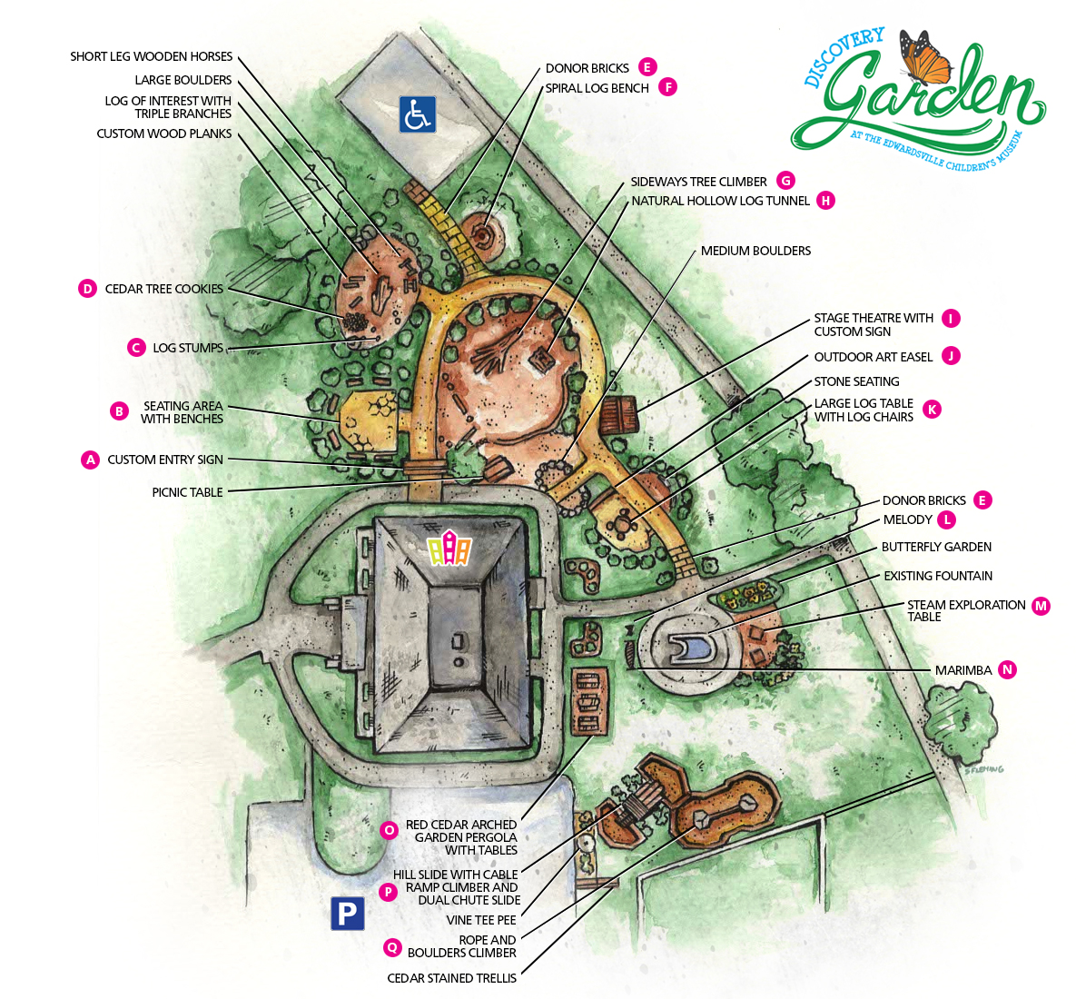 Discovery Garden layout